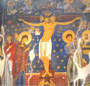 Manastir-studenica_hrist_raspeće-freska